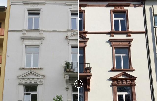 Fassade vorher nachher  Vorher / Nachher | Jörg Bohn, Fulda | Bausanierung & Denkmalpflege
